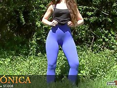curvy spanish teen and her fantastic cameltoe-ass package